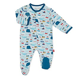 Magnetic Me® by Magnificent Baby Blue Oh Buoy Magnetic Footie