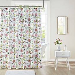 Intelligent Design Ashley Floral Print Shower Curtain