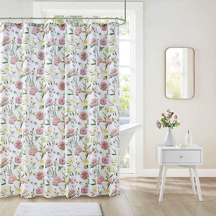 Alternate image 1 for Intelligent Design Ashley Floral Print Shower Curtain