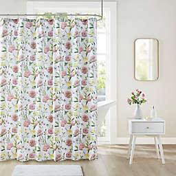 Intelligent Design Ashley Floral Print Shower Curtain