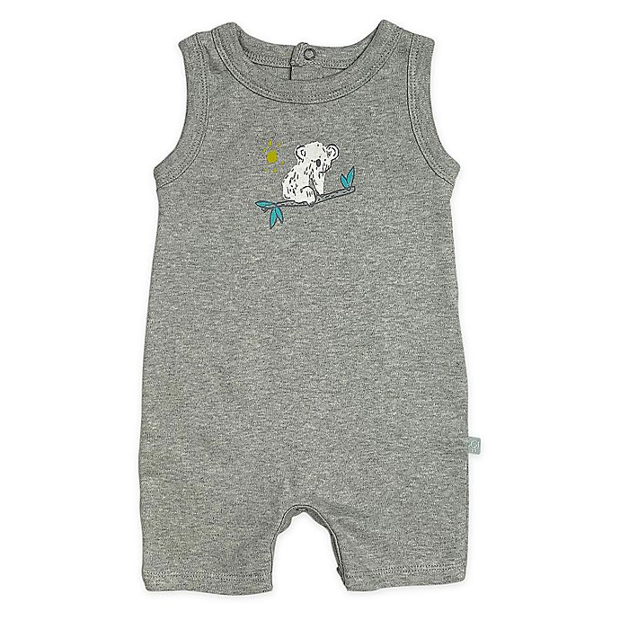 Alternate image 1 for Finn by Finn + Emma® Koala Organic Cotton Romper in Grey