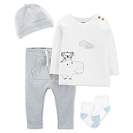 carter's® 4-Piece Animal Layette Set in Blue