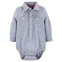 OshKosh B'gosh® Hickory Striped Button-Front Bodysuit