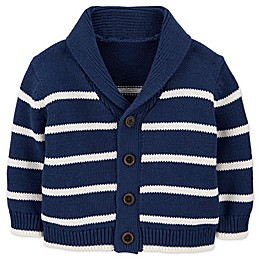 OshKosh B'gosh® Shawl Collar Striped Cardigan in Navy/White