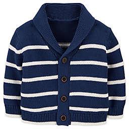 OshKosh B'gosh® Shawl Collar Striped Cardigan in Navy/White