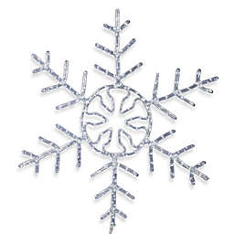 Vickerman LED Forked Snowflake in White