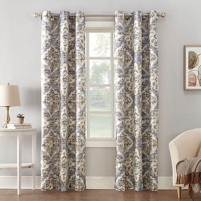 Alternate image 1 for Sun Zero® Regina Floral Watercolor Room Darkening Grommet Curtain Panel (Single)