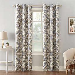 Sun Zero® Regina Floral Watercolor Room Darkening Grommet Curtain Panel
