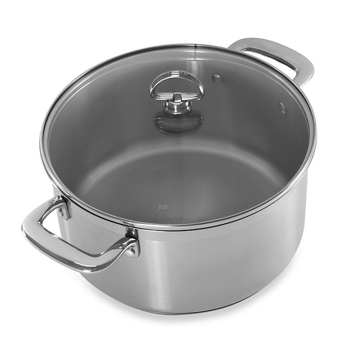 Alternate image 1 for Chantal® Induction 21 Steel™ 6 qt. Covered Casserole