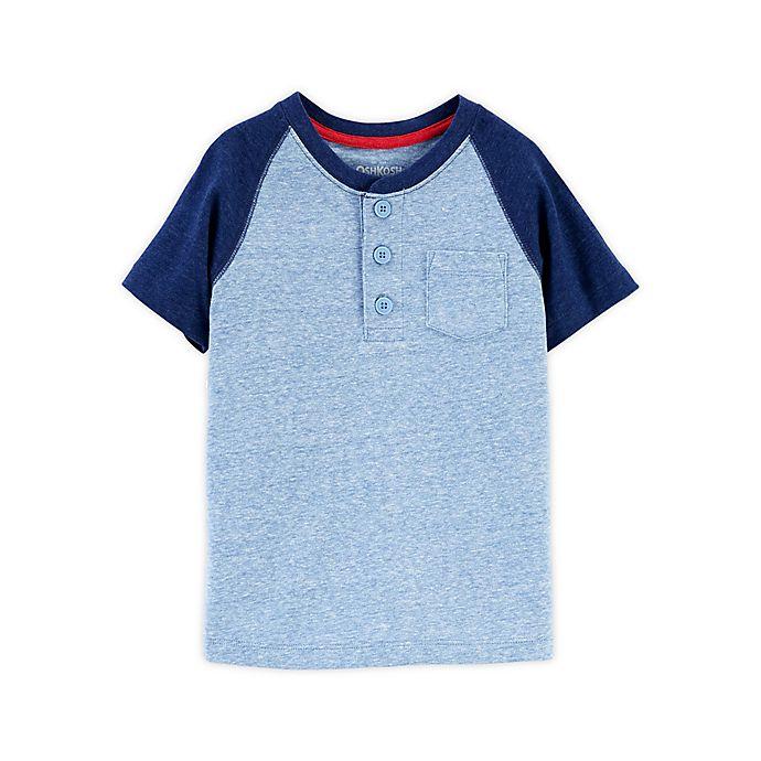Alternate image 1 for OshKosh B'gosh® Front Button Placket Henley Toddler T-Shirt