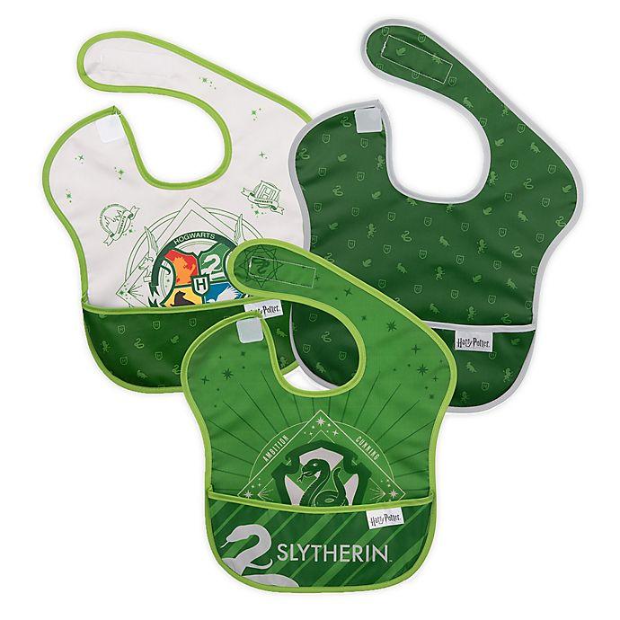 Alternate image 1 for Bumkins® 3-Pack Slytherin™ SuperBibs in Green/Grey