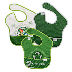 Bumkins® 3-Pack Slytherin™ SuperBibs in Green/Grey