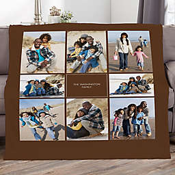 Photomontage Personalized 60-Inch x 80-Inch Photo Fleece Blanket