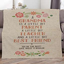 My Grandma, My Friend Personalized 60-Inch x 80-Inch Fleece Blanket