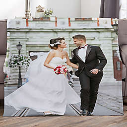 Picture It! Wedding Personalized 60-Inch x 80-Inch Fleece Blanket