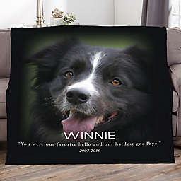 Pet Memorial Personalized 60-Inch x 80-Inch Fleece Photo Blanket