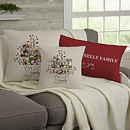Photo Family Tree Personalized 12-Inch x 22-Inch Lumbar Throw Pillow