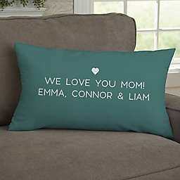 Mother Acronym Personalized 12-Inch x 22-Inch Lumbar Throw Pillow