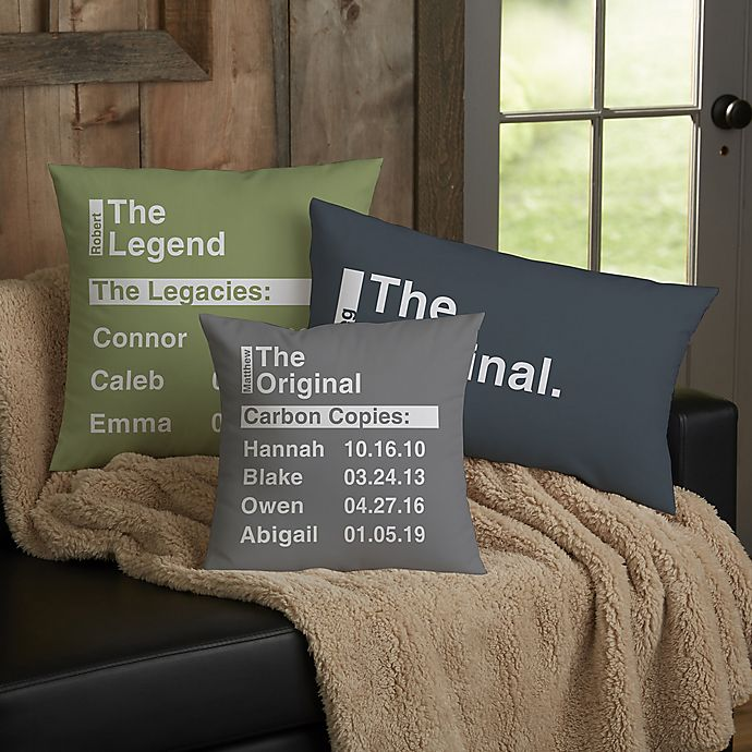Alternate image 1 for The Legend Personalized 12-Inch x 22-Inch Lumbar Throw Pillow