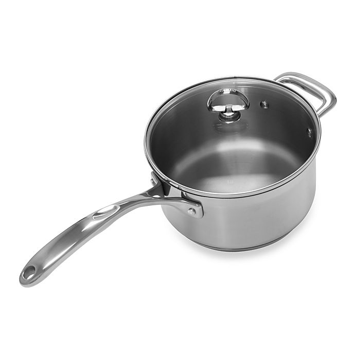 Alternate image 1 for Chantal® Induction 21 Steel™ 3.5 qt. Covered Saucepan