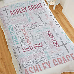 Christening For Her Personalized 50-Inch x 60-Inch Sweatshirt Blanket