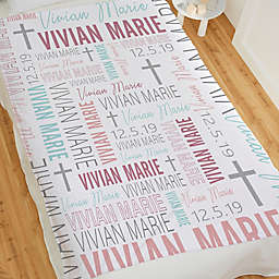 Christening For Her Personalized 60-Inch x 80-Inch Fleece Blanket