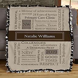 My Retirement Personalized 50-Inch x 60-Inch Tie Blanket