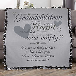 Grandparents Personalized 50-Inch x 60-Inch Tie Blanket