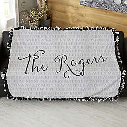 Together Forever Personalized 50-Inch x 60-Inch Tie Blanket