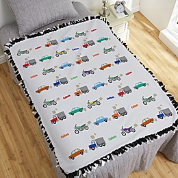 Modes of Transportation Personalized 50-Inch x 60-Inch Tie Blanket