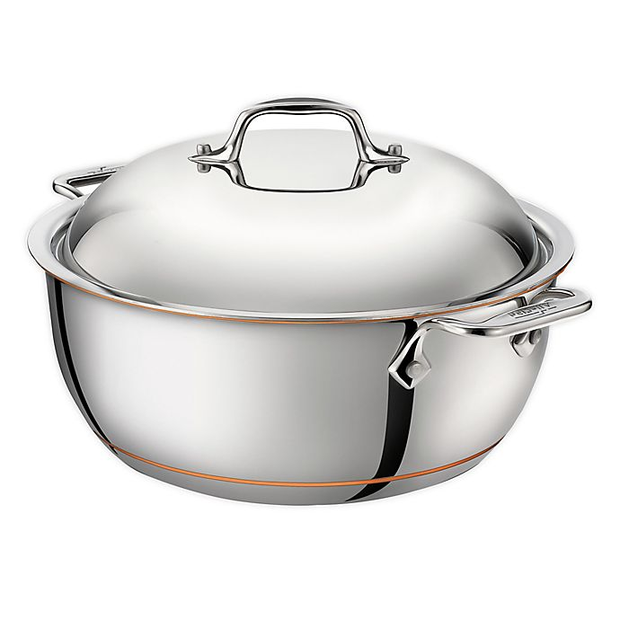 Alternate image 1 for All-Clad Copper Core® 5 ½ qt. Stainless Steel Dutch Oven
