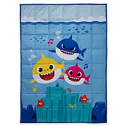 Baby Shark 36-Inch x 48-Inch Reversible Weighted Blanket
