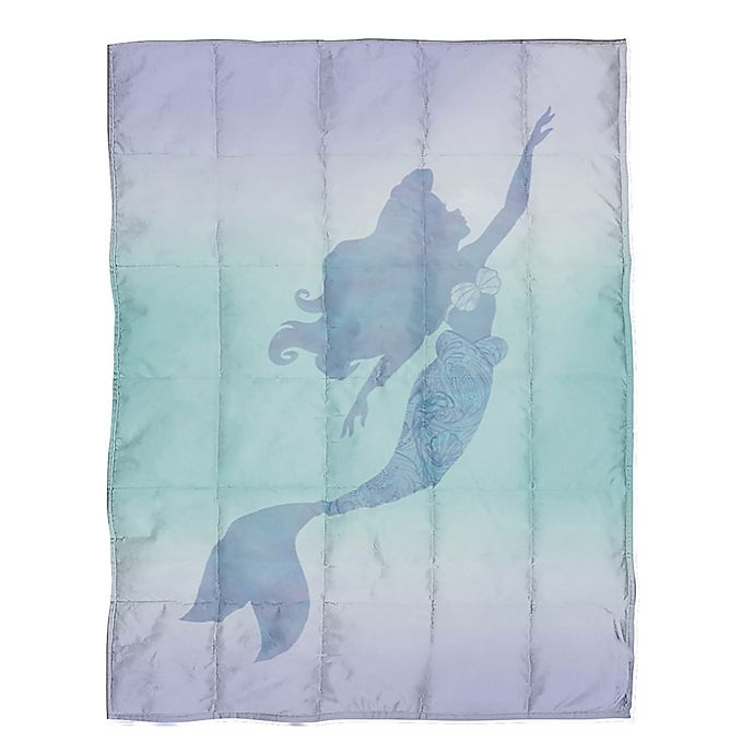 Alternate image 1 for Lil Mermaid Reversible Weighted Blanket