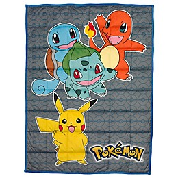 Pokemon Reversible 36-Inch x 48-Inch Weighted Blanket in Yellow Multi