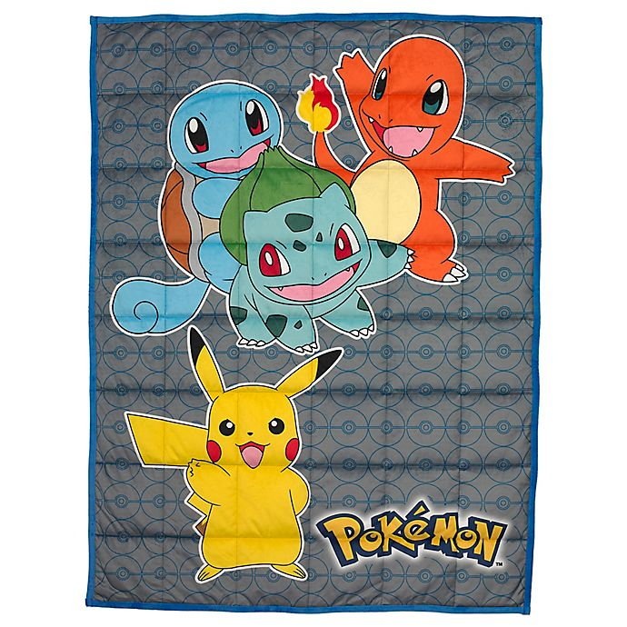 Alternate image 1 for Pokemon Reversible 36-Inch x 48-Inch Weighted Blanket in Yellow Multi