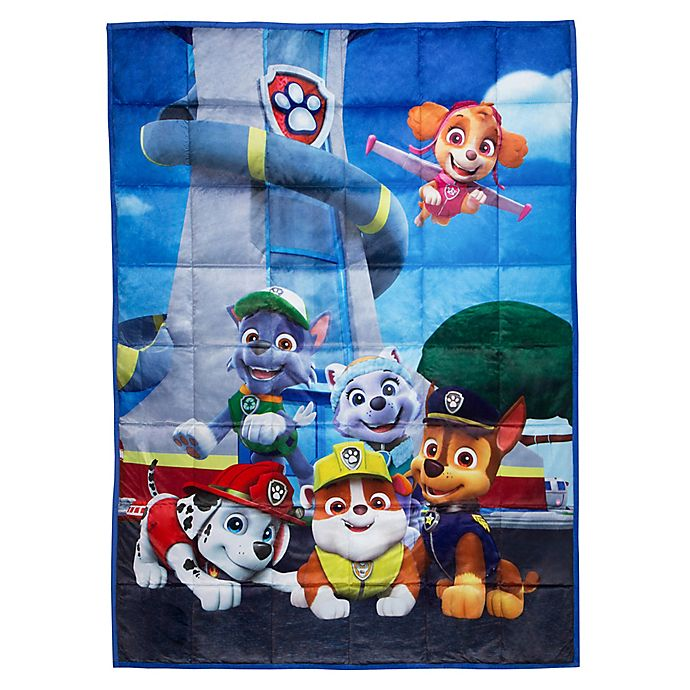 Alternate image 1 for PAW Patrol Reversible 36-Inch x 48-Inch Weighted Blanket