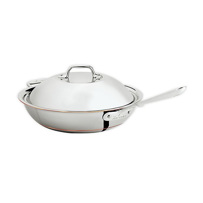 Alternate image 1 for All-Clad Copper Core® 4 qt. Covered Chef Pan with Helper Handle
