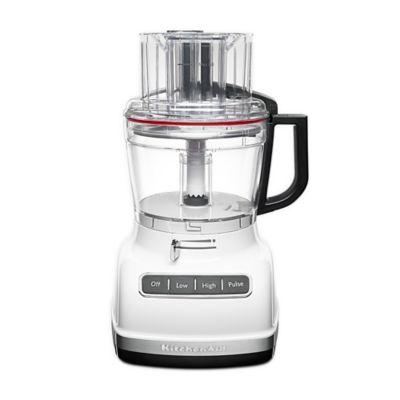 KitchenAid ExactSlice 11-Cup 3-Speed White Food Processor