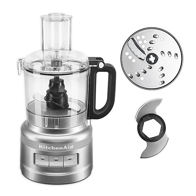 Alternate image 1 for KitchenAid® 7-Cup Food Processor in Silver