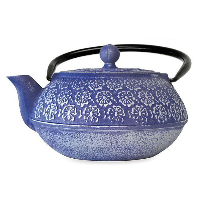 Alternate image 1 for Primula® Floral 34 oz. Cast Iron Teapot