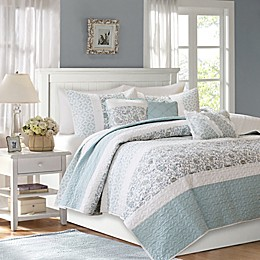 Madison Park Dawn Coverlet Set in Blue