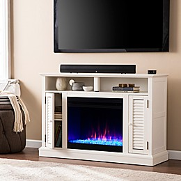 Southern Enterprises© Antebellum Media Stand Electric Fireplace with Storage