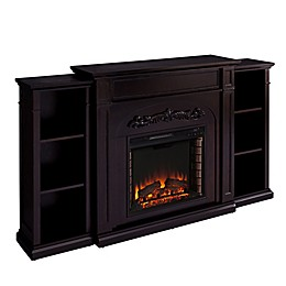 Southern Enterprises© Chantilly Electric Fireplace with Bookcase in Espresso