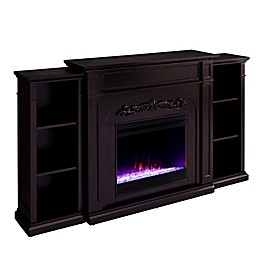Southern Enterprises© Chantilly Electric Fireplace with Bookcase Collection