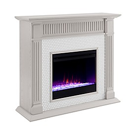 Southern Enterprises© Chessing Penny Tiled Color Changing Electric Fireplace Collection