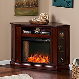 Southern Enterprise Claremont Corner Convertible Electric Fireplace Collection