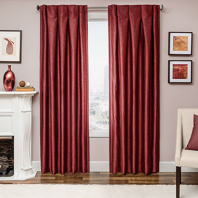 Alternate image 1 for Designers' Select Maximus Inverted Pleat 63-Inch Window Curtain Panel in Red