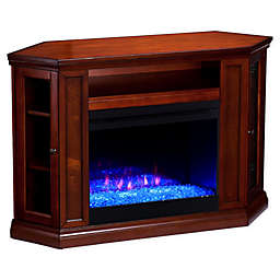 Southern Enterprise Claremont Color Changing Corner Convertible Electric Fireplace