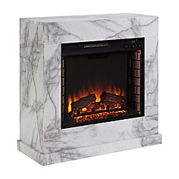 Dendale Electric Fireplace in White