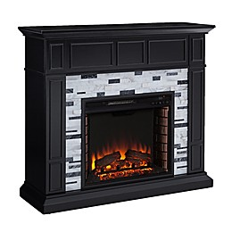 Southern Enterprises© Drovling Marble Electric Fireplace in Black